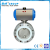 DN150 Stainless Steel Teflon Seal Pneumatic Butterfly Valve