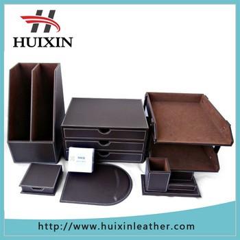 Factory Executive Stationery Set Office Desk Leather Luxury