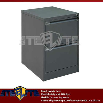 Small 2 Drawer Metal File Cabinet On Table Top/dark Grey Corner 2 Drawer  Chests