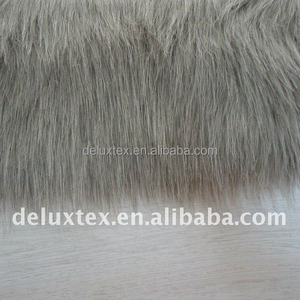 Chinese wholesale cloth cover grey color Faux fur for hat and chair cover
