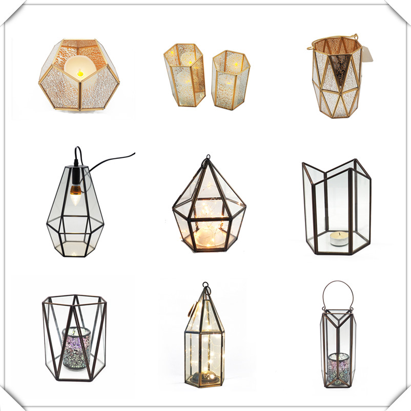 CH-1029  Modern high quality decorative candle holder metal lantern