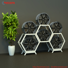 Hot Hexagon wheel Rim display rack Factory Price