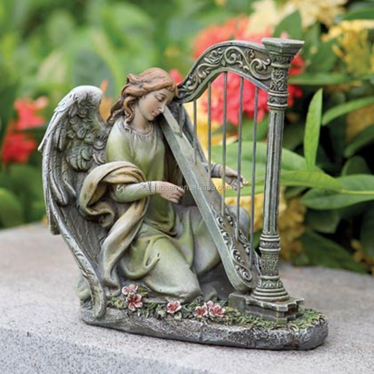 Home Decoration Statues Angel Playing Harp Garden Statue Buy Garden Angel Statue