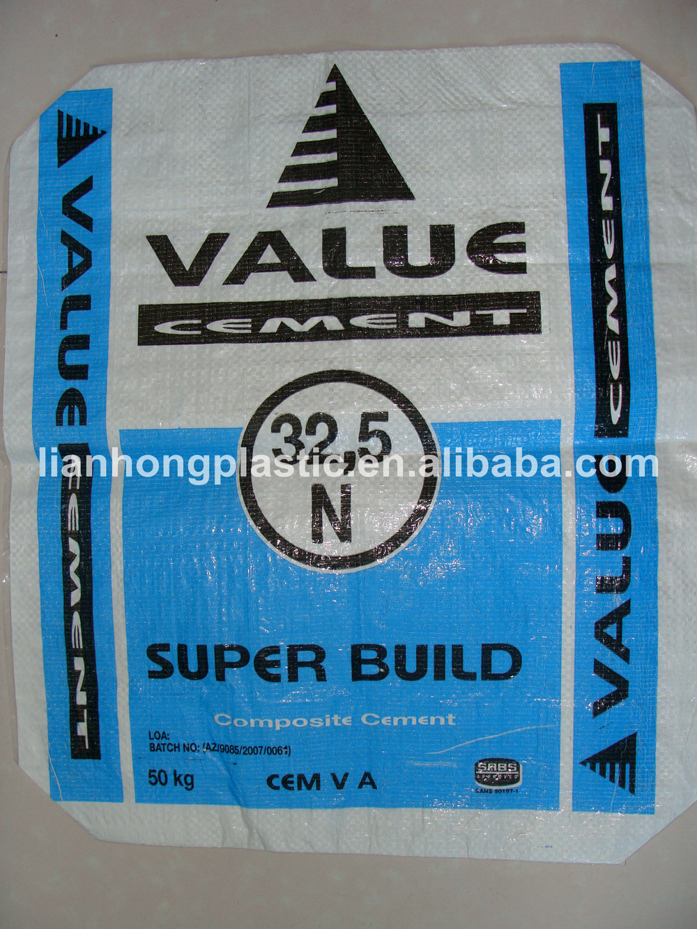 50kg Cement Bag Price/pp Ad Star Bag /25kg Cement Bag