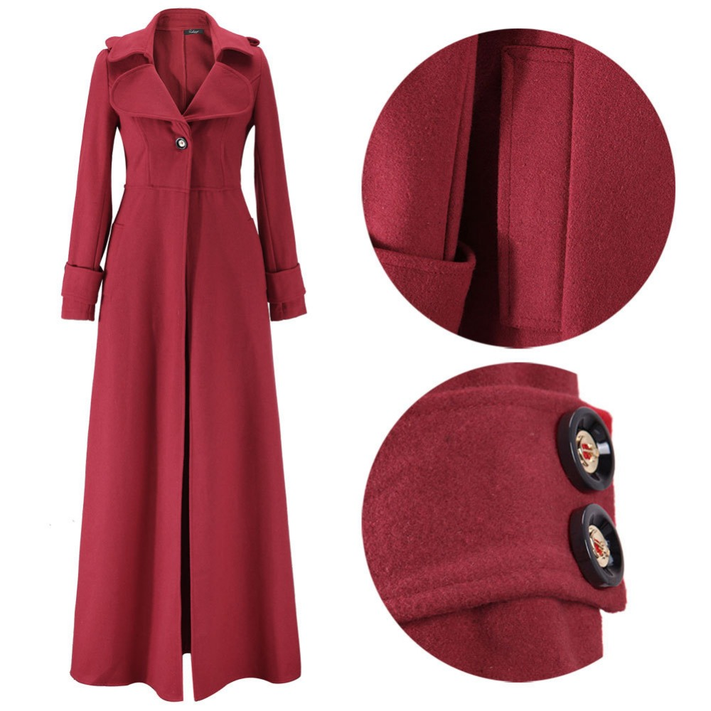 C67326A 2015 fashion european style high quanlity overcoat for lady 's wind long coat