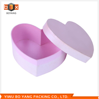 Factory directly sale luxury fashion pink heart wedding candy box