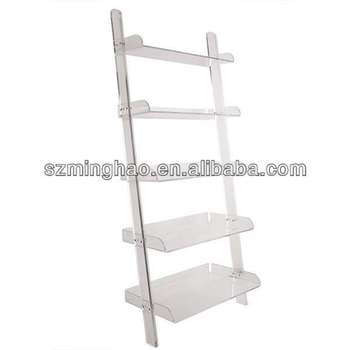 Floor Standing Clear Acrylic Bookshelf