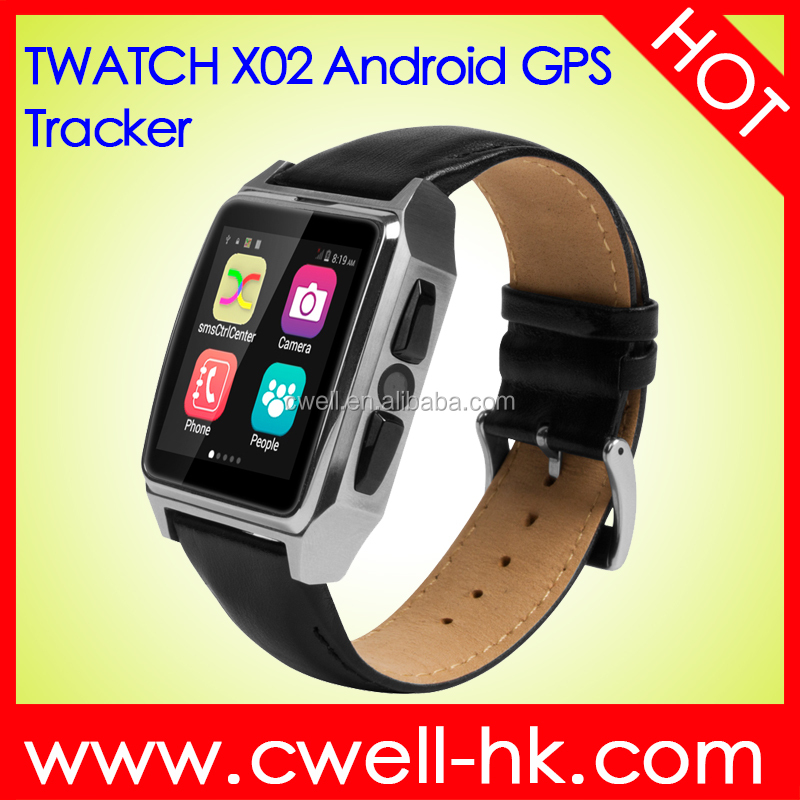 TWATCH X02 1.54 inch IPS Touch Screen GPS Tracker Heart Rate Monitor Pedometer Best 3G Andriod 4.4 Smart Watch