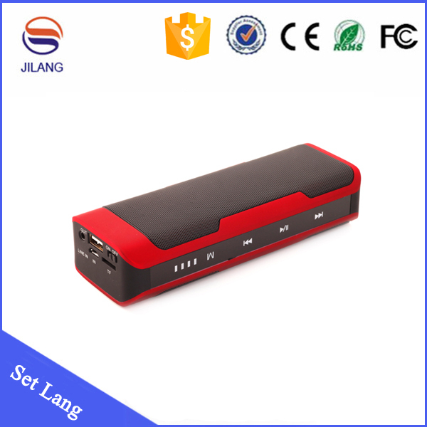 2015 new design hot selling unique oem custom bluetooth speaker with power bank 4000mah