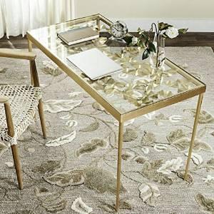 Office Desk Furniture, Office Desk Organizer, Workstation Desks, Student Desks, Executive Desks, Ginkgo Leaf Antique Gold Leaf Desk