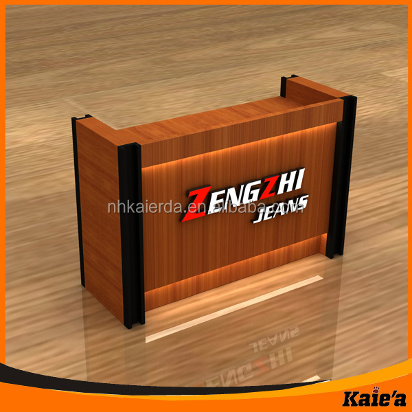 Modern Wood Shop Cash Counter Design