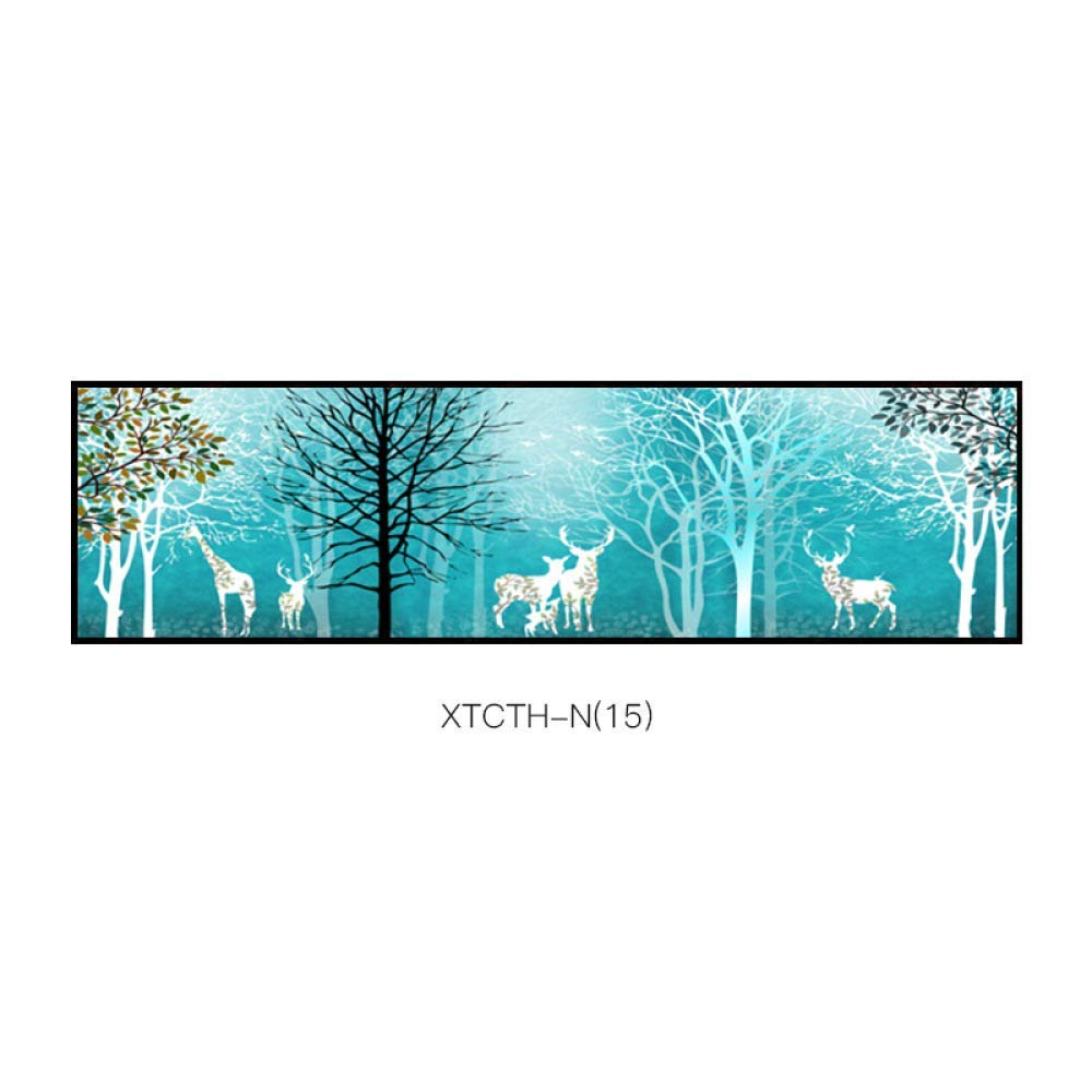 STTS Elk modern paintings, simple animal plants abstract decorative painting, pattern creative aesthetic style bedroom inkjet bedside painting