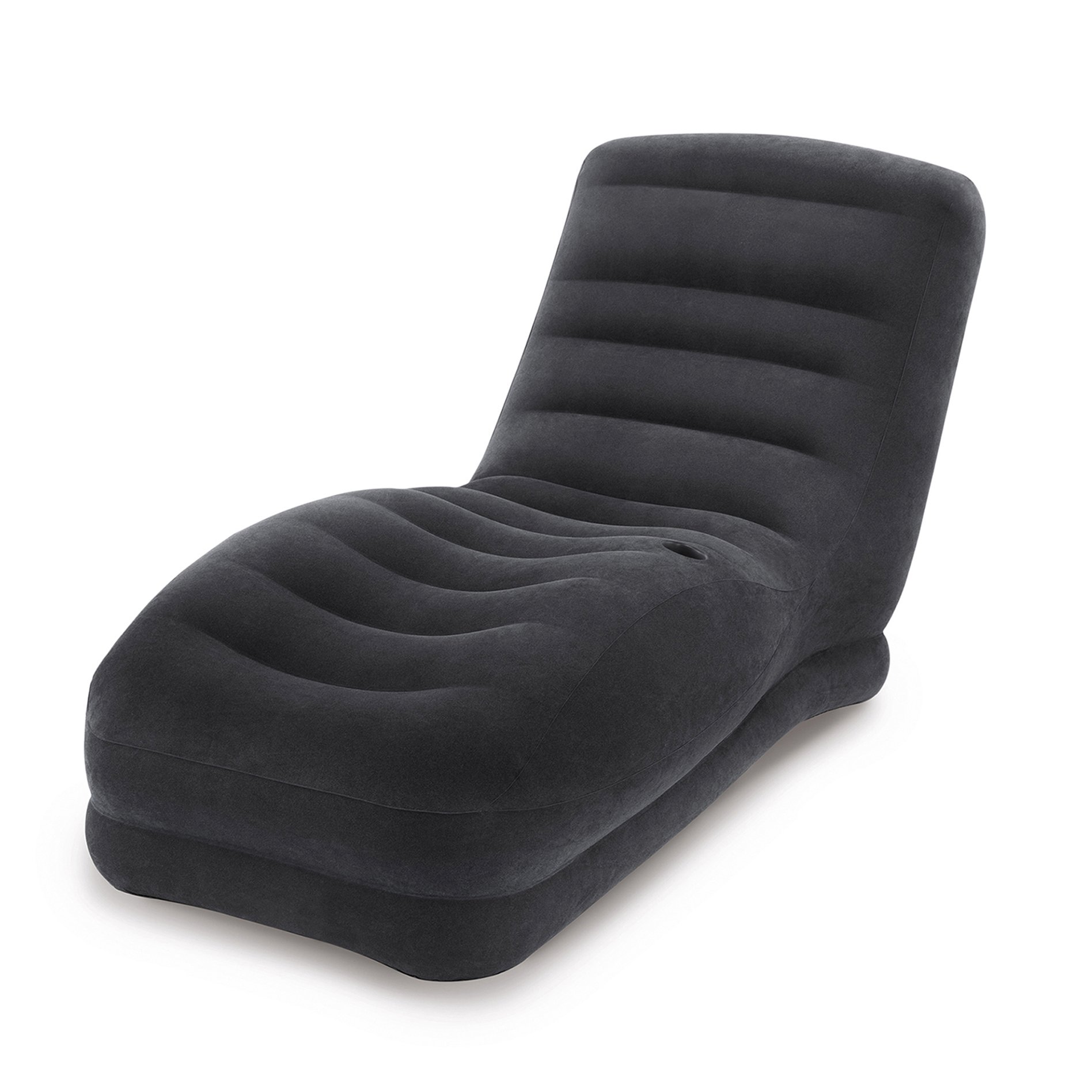 Get Quotations Intex Inflatable Contoured Mega Lounge Chair With Built In Cup Holder Black