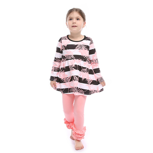Wholesale children boutique clothing baby clothing set boutique girl clothing
