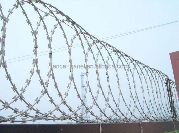 Razor Blade Barbed Wire/sharp Razor Barbed Wire/cross Razor Wire ...