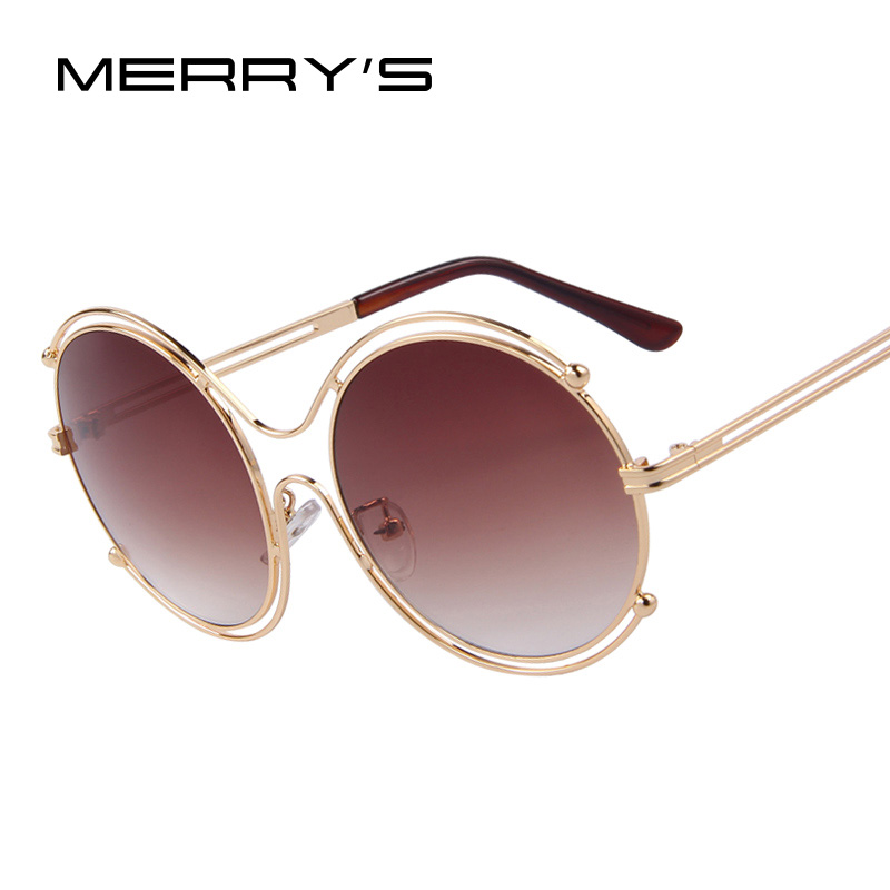 d33ed2eca286 MERRY'S Fashion Women Round Alloy 8 Shaped Frame Sunglasses Women Summer  Style Brand Design Sun Glasses Oculos de sol UV400-in Sunglasses from  Women's ...