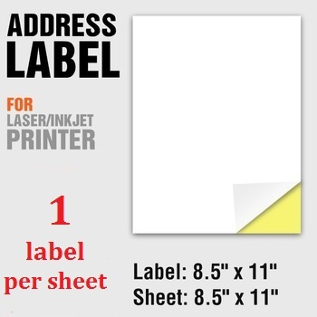 letter size 8 5 x 11 a4 adhesive sticker shipping labelling self