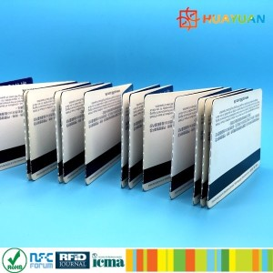 HUAYUAN 13.56MHz MIFARE Ultralight RFID Paper Card with FLIP Bonding