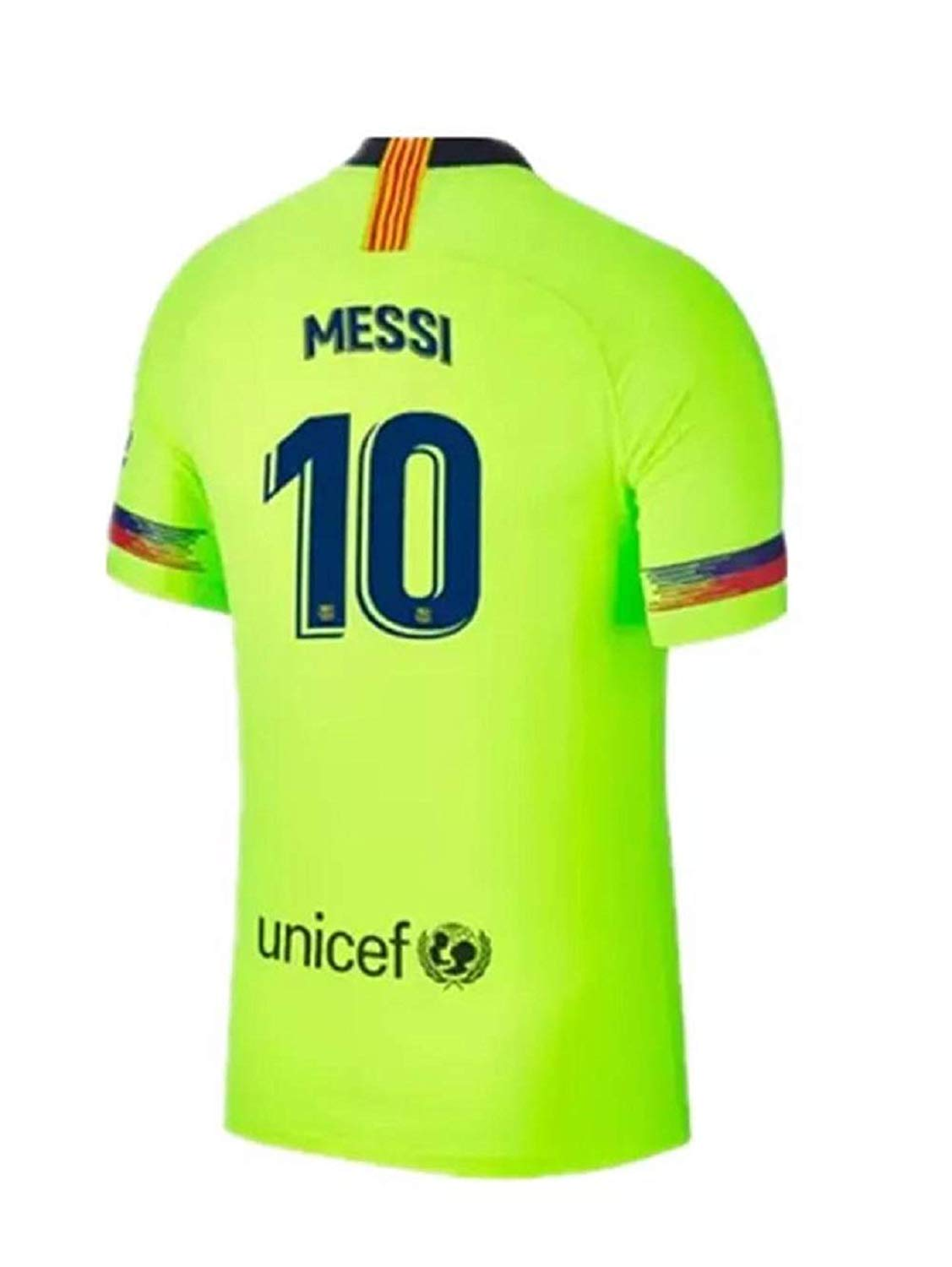 13e7dbdf53a Get Quotations · Lakivde Men s Messi New Away Jerseys 18-19 Barcelona  10  Football Jersey Soccer Jersey