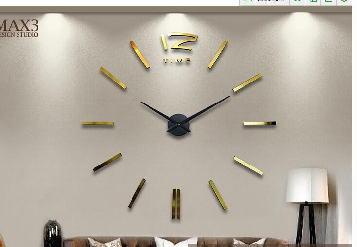 Grandes relojes de pared decorativos diy sticker p ndulo - Relojes grandes pared ...