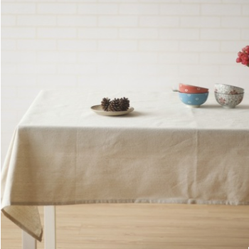 Wholesale Hot Selling Plain White Cotton Linen Fitted Table Cloth For Home  Wedding Restaurant Glitter