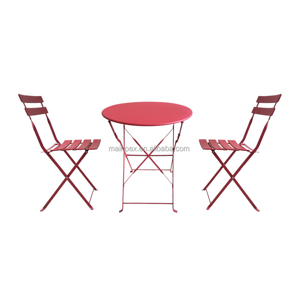 3 Pcs Metal folding Outdoor restaurant Chair