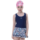 Wholesale Girl Child Swimwear Dress Print One Piece Swimsuit for Kids