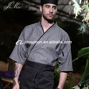 hotel restaurant chef clothes jacket coat Japanese sushi chef uniforms