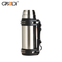 double wall stainless steel vacuum bottle with handle 1000ml