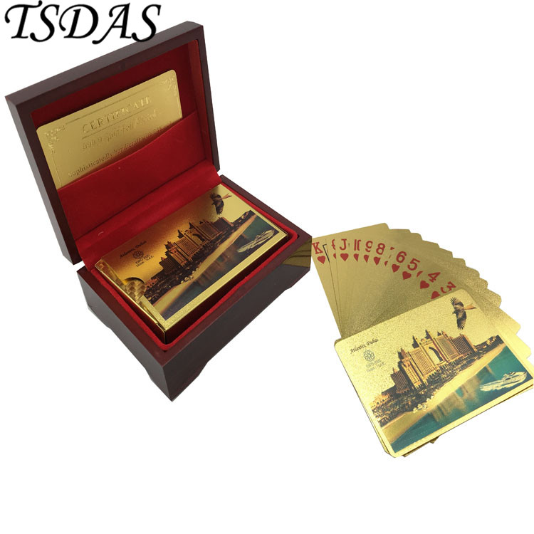 Gold Playing Card Embossed Atlantis Dubai Buildings Dubai: Adult Playing Cards Promotion-Shop For Promotional Adult
