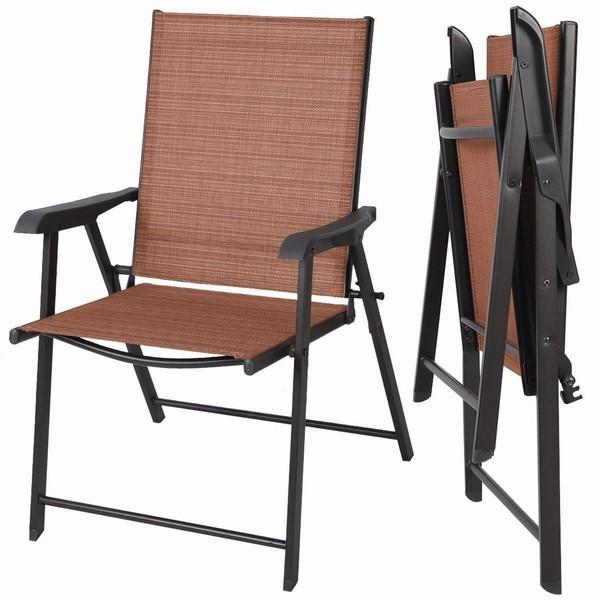 sillas de madera y tela plegables de jardin