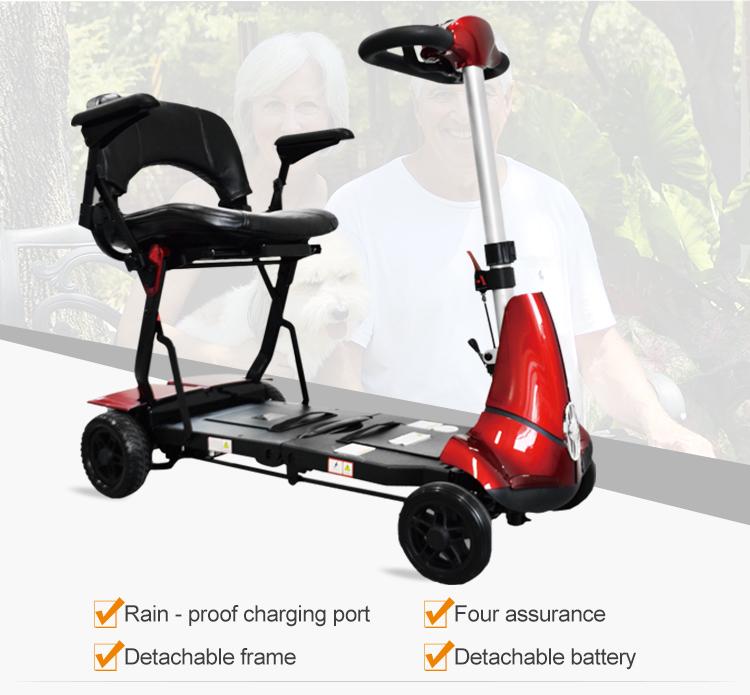 A quattro ruote anziani scooter elettrico mobilità portatori di handicap medico scooter
