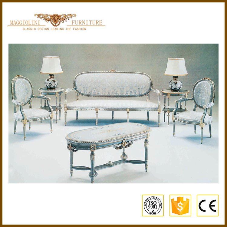 Full solid wood quality formal living room furniture
