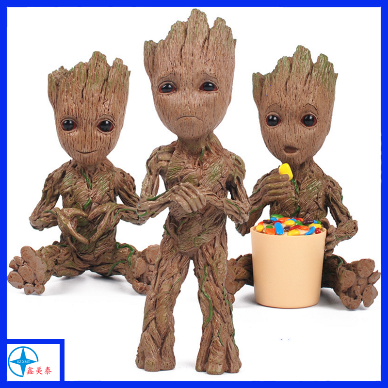 hot sell resin tree man groot anime figure for collection