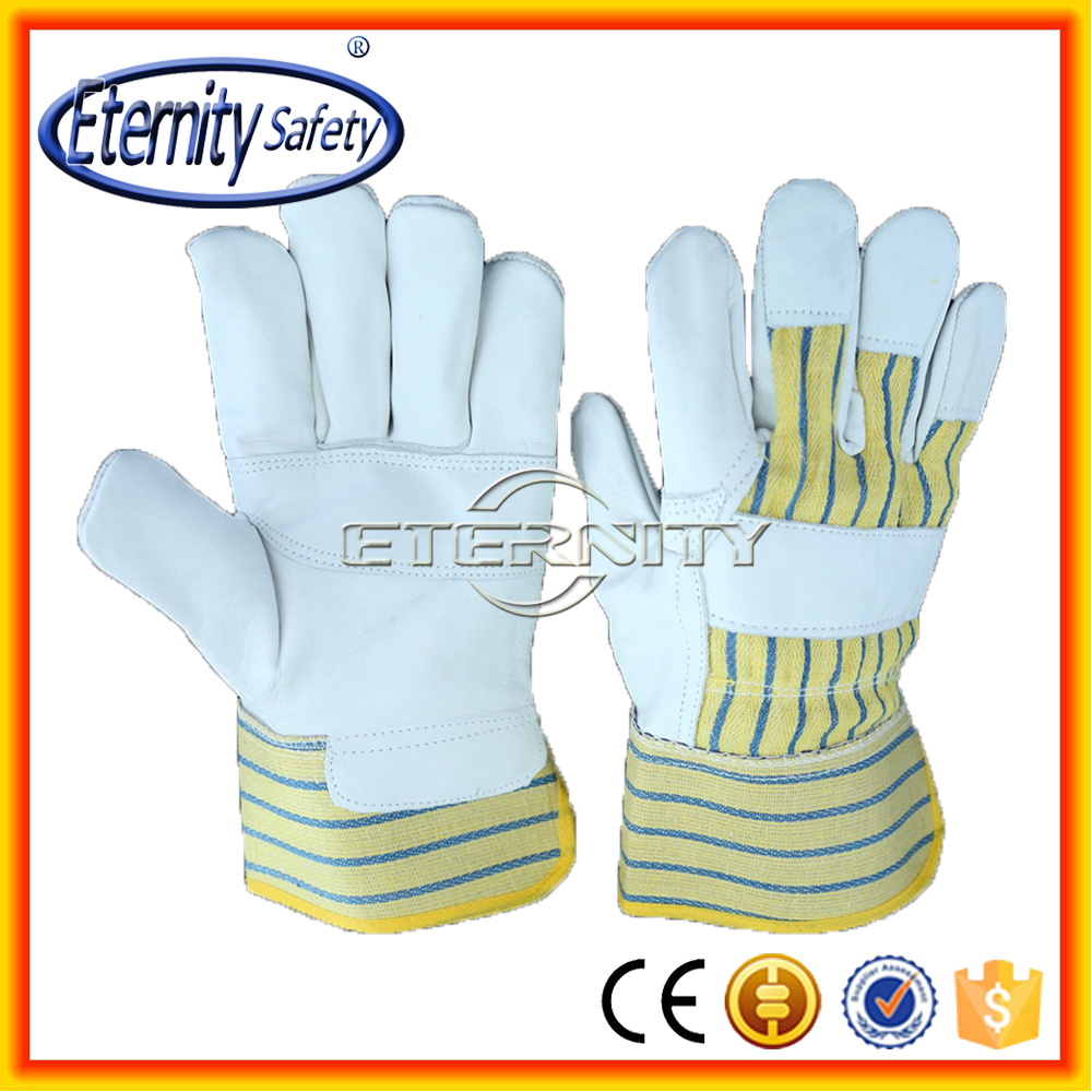 BBQ hand gloves cow split leather for cooking