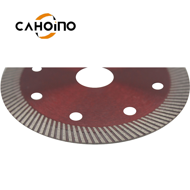 Newest Style Sharpness 105 mm Diamond wave Turbo Saw Blade For Ceramic Tiles Cutting