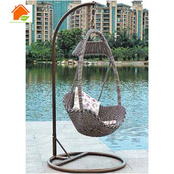 Rattan Hanging Chair India Wicker With Stand Product On