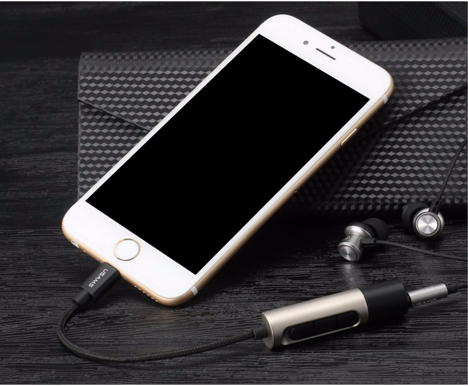 USAMS With Volume Control Function 3.5mm Jack Aux Cable For iphone 7 / iphone 7 plus