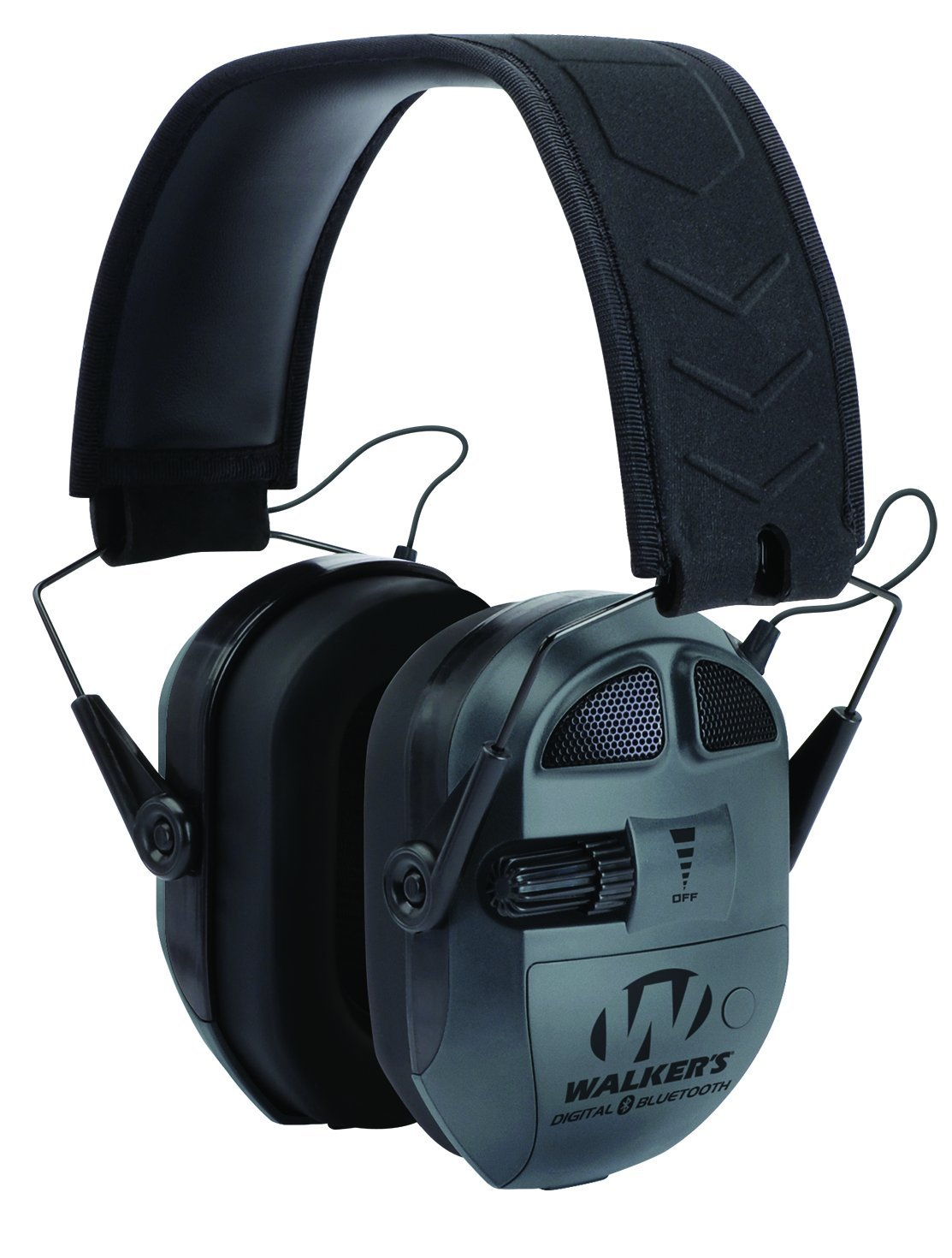 Walker's Ultimate Digital Quad Connect Muff with Bluetooth, Black