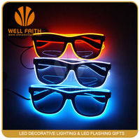 2016 trending products EL Sunglasses ,Gifts&Crafts Light up Led Sunglasses,Promotional Items Holiday Led Sunglasses