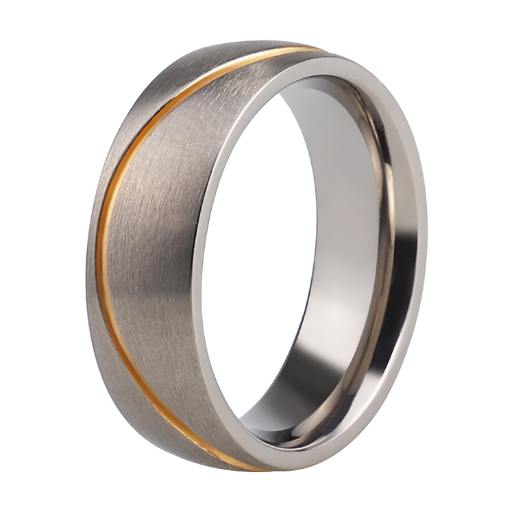 Stainless Steel Band Polished Plain Wedding Ring 316L Surgical 3mm Sizes 3-15