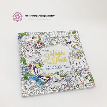 China Factory Manufacture Secret Garden Coloring Drawing Book