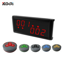 Wireless Call Button Restaurant Table Numbers K-236+H4-G Equipment Table Calling System
