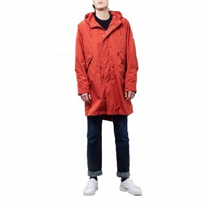 Wholesale Mens Polyester Light Fishtail Parka Jacket