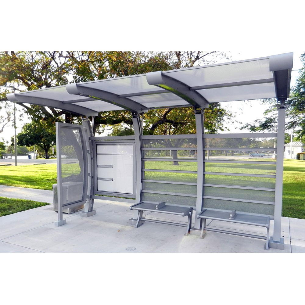product-Customized dimensions stainless steel bus stop shelter-YEROO-img