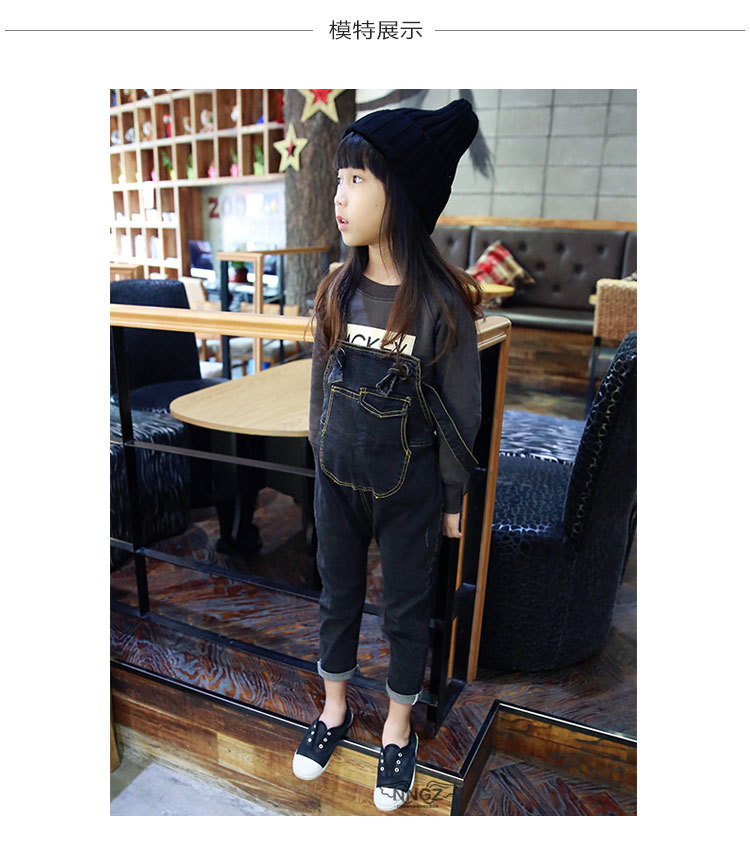 1ca1ec41c76 Get Quotations · 2-6Years Girls Denim Overalls Baby Girls Overalls Jeans  Spring   Autumn Kids Jean Trousers