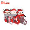 zipper fabric Plush stuffed animal head red christmas stocking candy bag