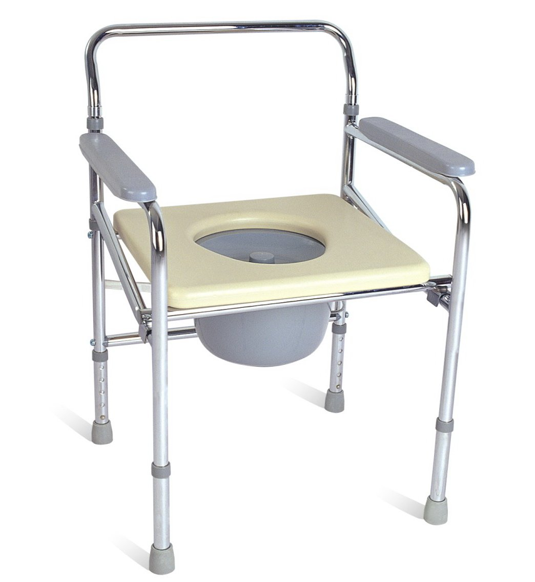 Chrome Frame steel foldable adjustable commode lift chair MT551 ...