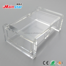 Wholesale table stand transparent acrylic name business card holder