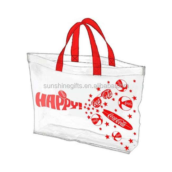 Convenient Practical Transparent PVC Clear Shopping Tote Bag